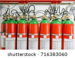 hazard fire suppression system... | Shutterstock . vector #716383060
