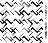seamless irregular geometrical... | Shutterstock .eps vector #716386954