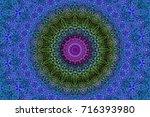 illustration of a kaleidoscope  ... | Shutterstock . vector #716393980