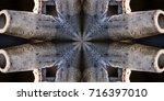 abstract design using steel... | Shutterstock . vector #716397010
