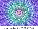 illustration of a kaleidoscope  ... | Shutterstock . vector #716397649