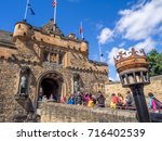 edinburgh  scotland   july 29 ... | Shutterstock . vector #716402539