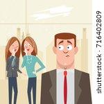 harassment of coworker | Shutterstock .eps vector #716402809