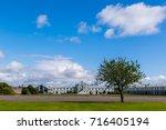 sunny summer day in ireland.... | Shutterstock . vector #716405194
