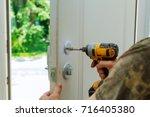 installation locked interior...   Shutterstock . vector #716405380