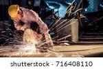 welder industrial automotive... | Shutterstock . vector #716408110