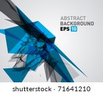 abstract 3d geometric lines... | Shutterstock .eps vector #71641210
