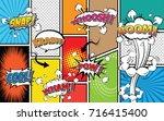 comic sound effect speech... | Shutterstock .eps vector #716415400