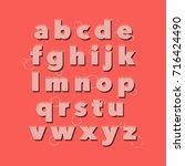vector of vintage font. vintage ... | Shutterstock .eps vector #716424490