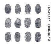 fingerprint vector set | Shutterstock .eps vector #716434054