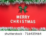 merry christmas words and... | Shutterstock . vector #716435464
