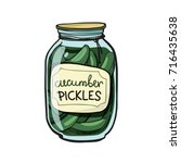 cucumber pickles  vector... | Shutterstock .eps vector #716435638