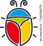 beetle logo | Shutterstock .eps vector #716436070