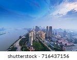bird view at nanchang china....   Shutterstock . vector #716437156