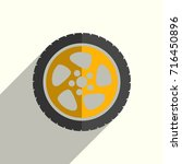 car wheel flat icons with of... | Shutterstock .eps vector #716450896