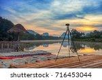 krabi morning lake viwe sunrise ...   Shutterstock . vector #716453044