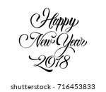 happy new year hand lettering | Shutterstock .eps vector #716453833
