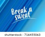 fitness motivation quote | Shutterstock . vector #716455063