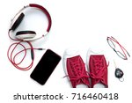 sneaker shoes   mobile phone... | Shutterstock . vector #716460418