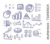 statistic doodle  vector hand... | Shutterstock .eps vector #716465614