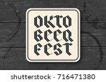beverage coaster for beer with... | Shutterstock .eps vector #716471380
