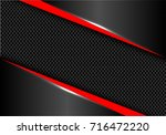 Abstract Red Line Dark Gray...