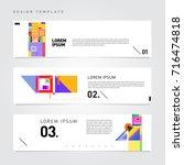 vector abstract banner web... | Shutterstock .eps vector #716474818