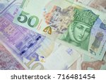 Small photo of Background of Georgian Lari banknotes close up