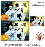 halloween party with ghosts ... | Shutterstock .eps vector #716482378