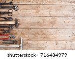 composition of construction... | Shutterstock . vector #716484979