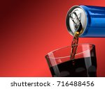 pouring a refreshing sugary... | Shutterstock . vector #716488456