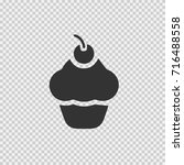 cup cake vector icon eps 10.... | Shutterstock .eps vector #716488558