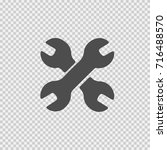 wrench vector icon eps 10.... | Shutterstock .eps vector #716488570
