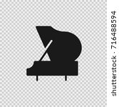 grand piano vector icon eps 10. | Shutterstock .eps vector #716488594
