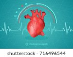medical research of human... | Shutterstock .eps vector #716496544