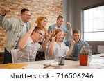 group of young future... | Shutterstock . vector #716506246