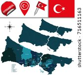 vector map of istanbul with... | Shutterstock .eps vector #716511163