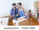 moving in a new house....   Shutterstock . vector #716517484