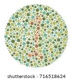 ishihara color test color blind ... | Shutterstock .eps vector #716518624