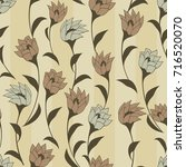 seamless floral pattern.... | Shutterstock .eps vector #716520070