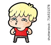 cartoon curious man   Shutterstock .eps vector #716521378
