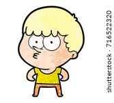cartoon curious boy   Shutterstock .eps vector #716522320