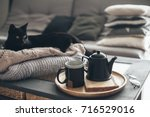 still life details in home... | Shutterstock . vector #716529016