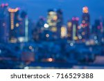 blue twilight city downtown... | Shutterstock . vector #716529388