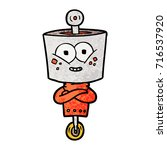 happy cartoon robot | Shutterstock .eps vector #716537920