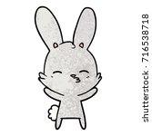 curious bunny cartoon   Shutterstock .eps vector #716538718