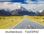 Road To Mount Cook  Southern...