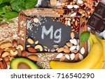healthy diet eating concept.... | Shutterstock . vector #716540290