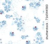 vintage romantic vector trendy...   Shutterstock .eps vector #716544583
