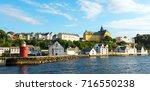 Colorful Scene In Alesund Port...